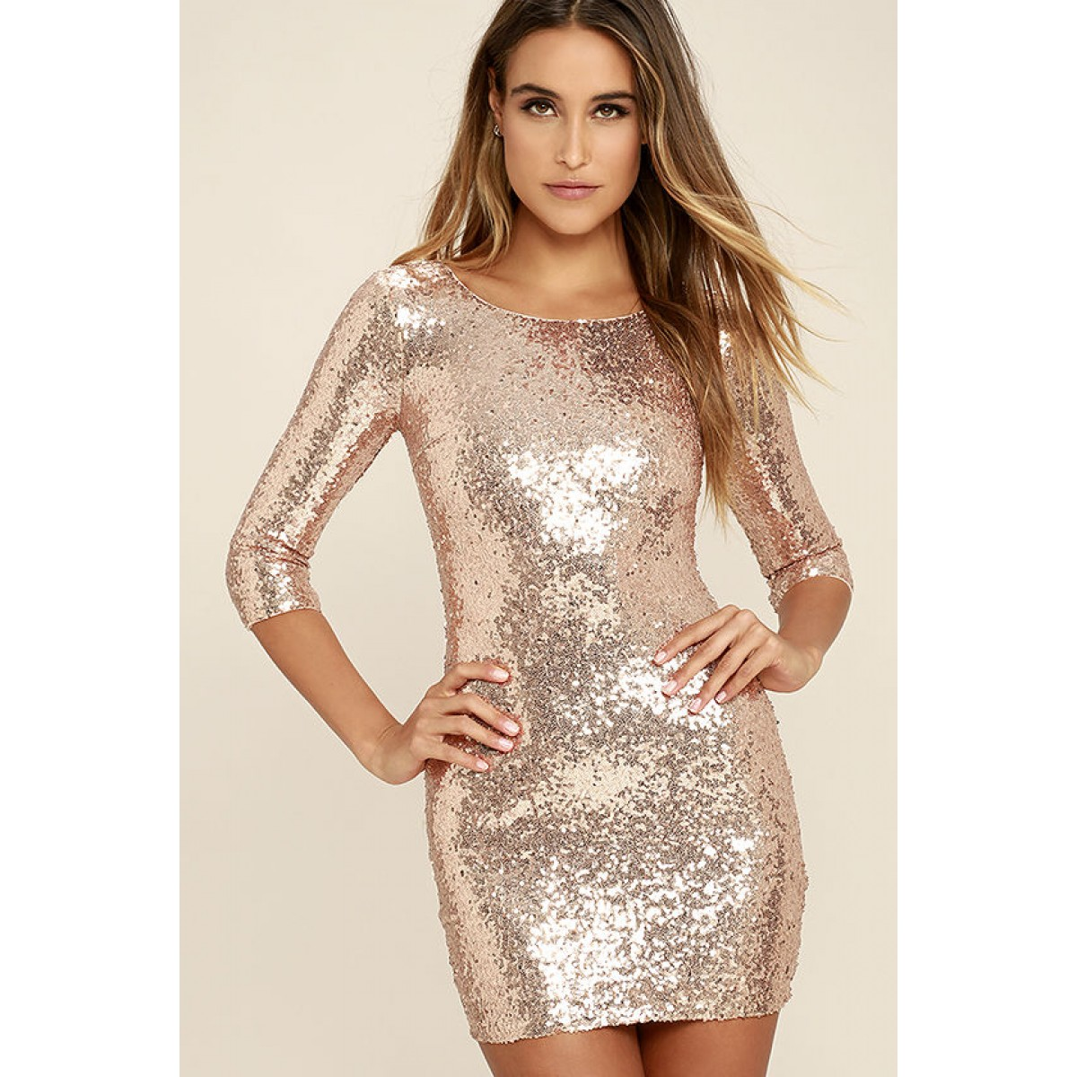 4a14d574c8 ... Rose Gold Sequin Dress. Be the first to review this product.  59.00.   59.00Availability  In stock