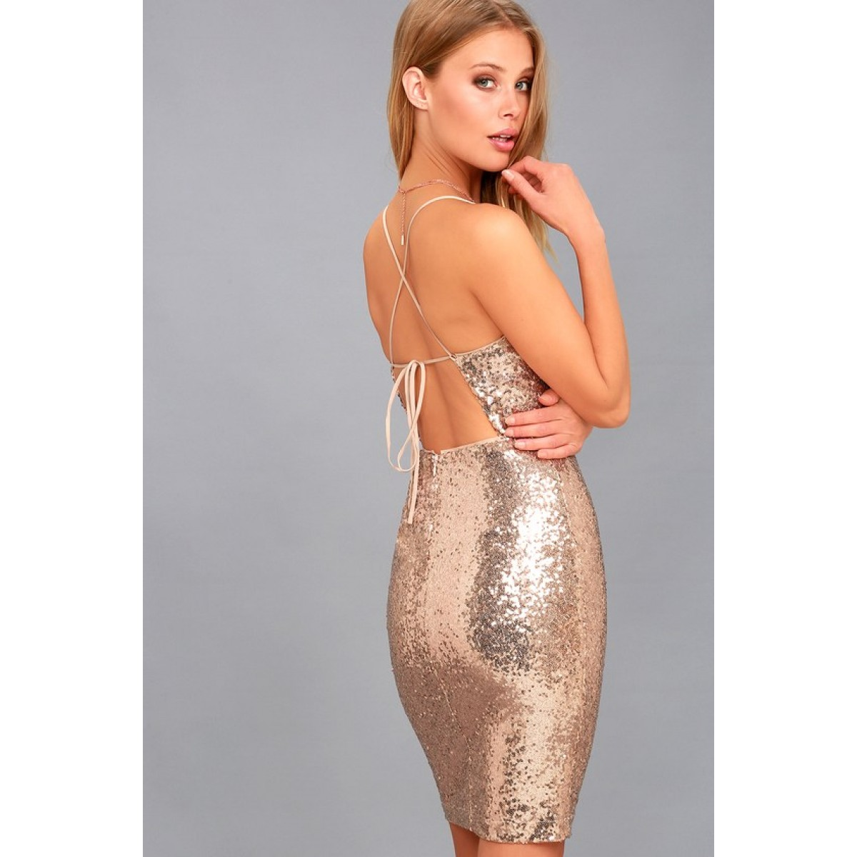8d900c4c66 ... Gold Sequin Bodycon Dress. Be the first to review this product