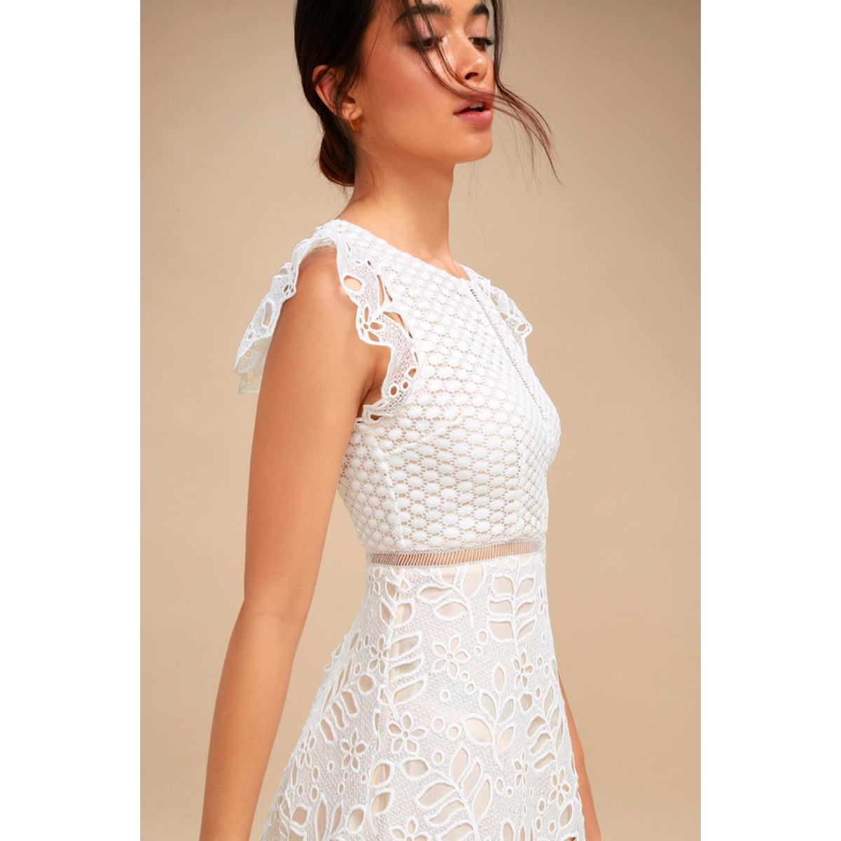 101.00Availability  In stock. Wear the BB Dakota Ariane White Lace Skater  Dress to meet the ... f700a712a