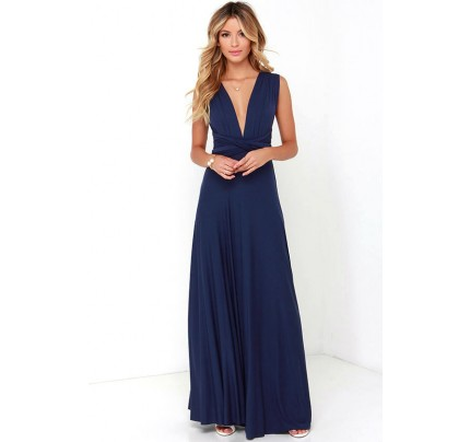 Tricks of the Trade Navy Blue Maxi Dress