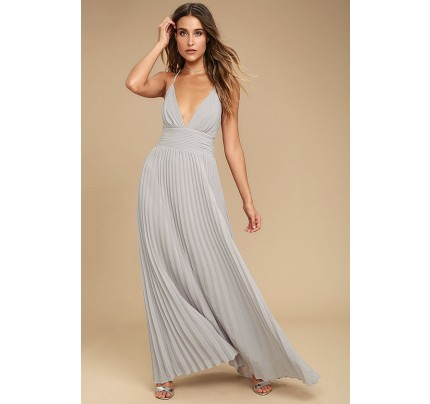 Depths of My Love Grey Maxi Dress - Lulus