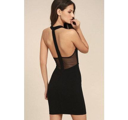 Dance Night Black Bodycon Dress