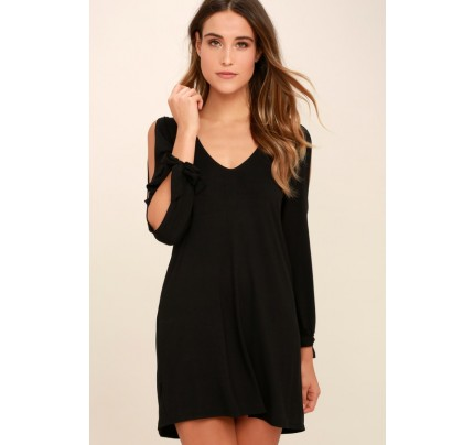 Glory of Love Black Shift Dress - Lulus