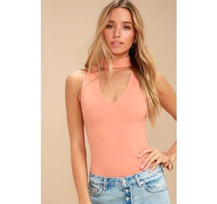 Powerhouse Blush Pink Bodysuit - Lulus