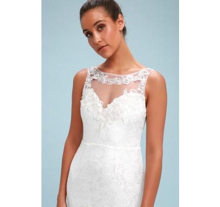 Inga White Lace Embroidered Maxi Dress - Lulus