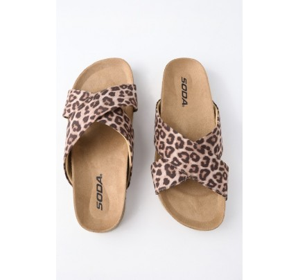f465f29fb830f7 Reilly Cheetah Print Flat Sandals - Lulus