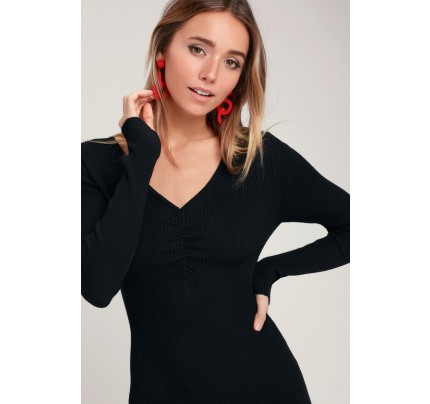 a1595a7891cd Marvelous Muse Black Velvet Embroidered Halter Bodycon Dress - Lulus
